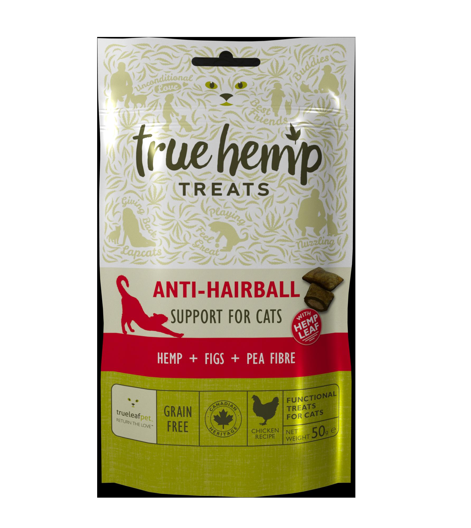 Kattegodbiter Anti hårball True Hemp