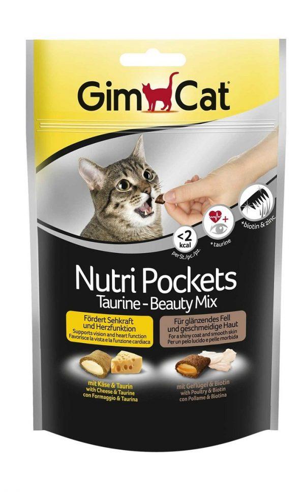 Fôrtilskudd for katt NutriPockets Taurin Beauty Mix
