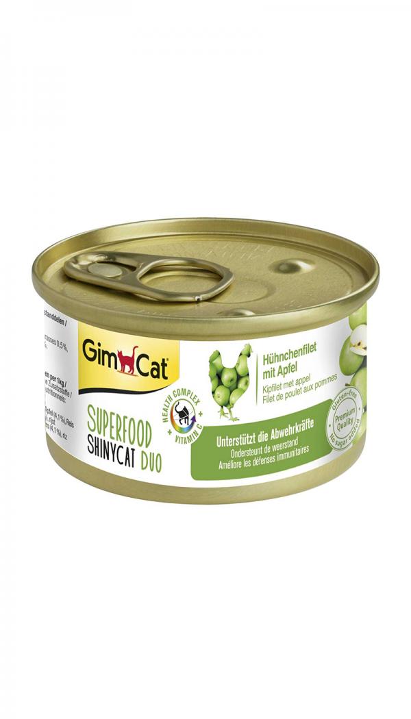 Tilleggsfôr til katter som støtter immunforsvaret. Superfood ShinyCat Duo