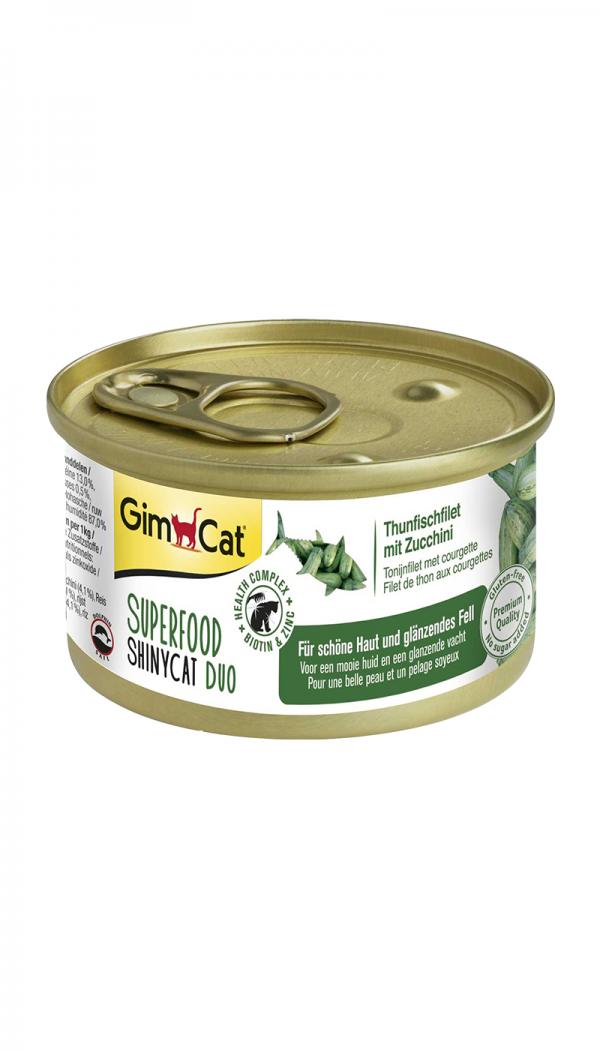Tilleggsfôret GimCat Superfood ShinyCat Duo
