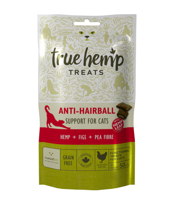 Kattegodbiter mot hårballer fra True Hemp