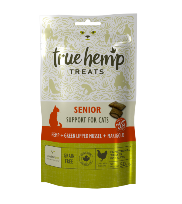 Kattegodbiter eldre katter True Hemp Cat treats SENIOR