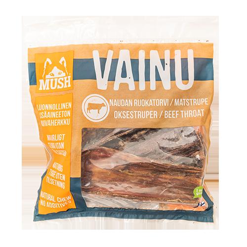 Hundesnacks naturlig MUSH VAINU Oksestruper 220 g