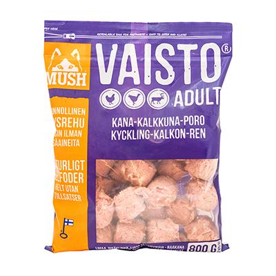 Proteinrikt fullfor til hund MUSH Vaisto Lilla (Kylling- Kalkun- Rein) 800G