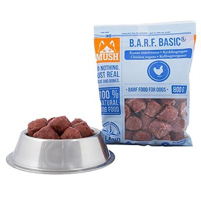 Mush BARF Basic Hundefòr frosset kyllingorgan 800 gr