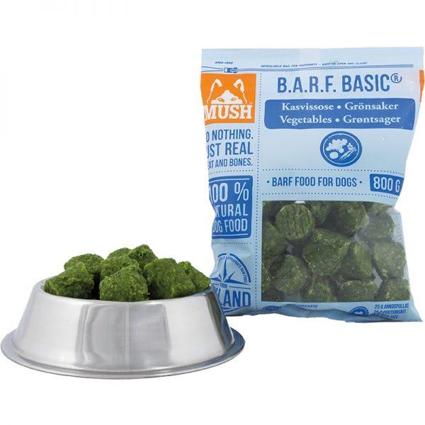 Mush BARF Hundefôr frosset grønnsaker 800G