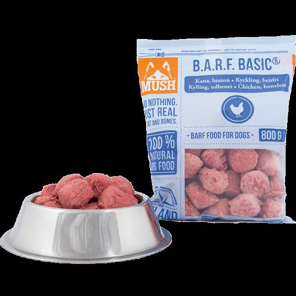 Mush BARF Basic Hundefôr frosset kylling uten ben 800G