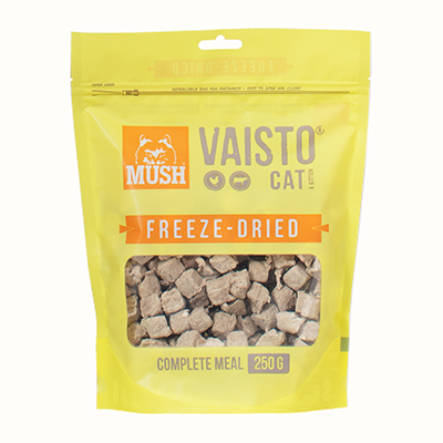 MUSH Vaisto Cat Gul Freeze-Dried med kylling og storfe